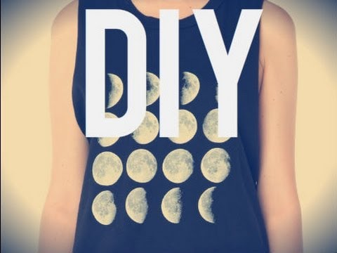 DIY Brandy Melville Moon Phase Tank 