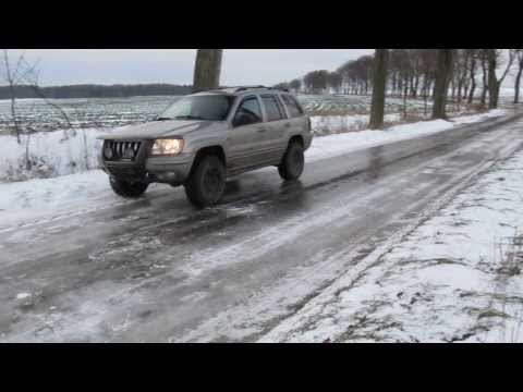 Goodyear Wrangler Duratrac ice test - Jeep Grand Cherokee WJ Quadra-Drive