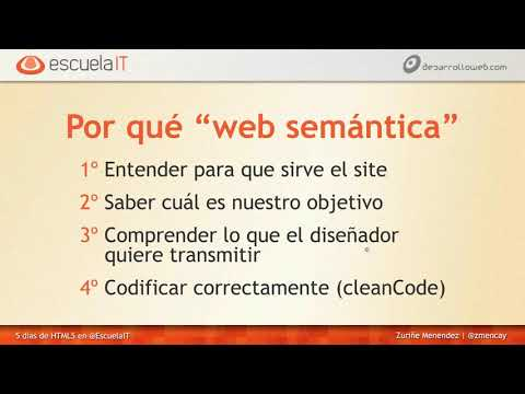 Web semántica - Clase 2 Curso HTML5 gratuito