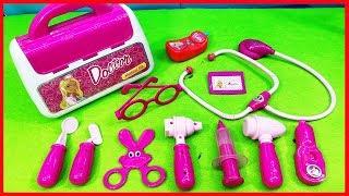 Đồ chơi bác sỹ vali barbie màu hồng, đồ chơi bác sỹ 24 món, Doctor Set Toys For Kids (chị Chim Xinh)