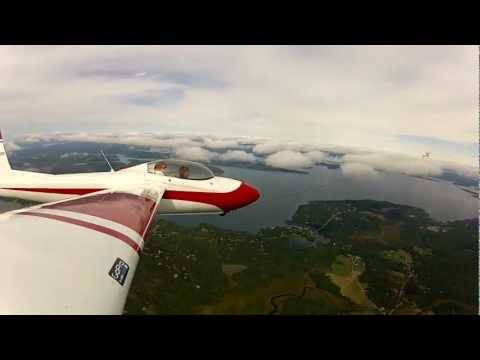 Schweizer SGS 2-32 over Bar Harbor, ME and Acadia Nat'l Park (KBHB) In Tow/Climbing 2/6 HD