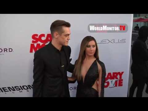 Ashley Tisdale and boyfriend Christopher French arrive at Scary Movie 5 LA premiere