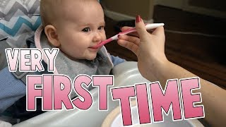 First Time Real Food | Family Baby Vlogs