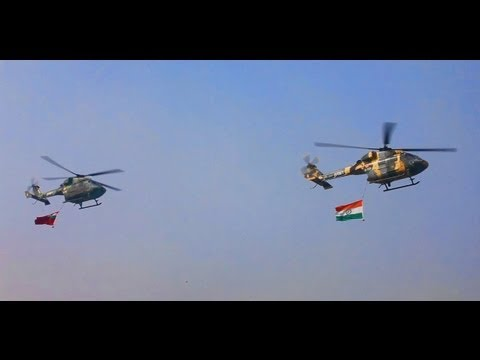 Indian Army Dhruv Helicopters Flypass -hd video