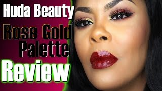 Huda Beauty Textured Shadows Palette Rose Gold Edition  |Review &  Swatches