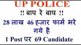 UP Police Constable 2018 Total Form Fill 28.46 Lacs