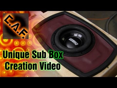 How to Build A Subwoofer Box CUSTOM Video - Custom Body Filler Fiberglass CarAudioFabrication