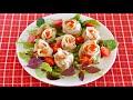 How to Make Rose Gyoza Dumplings (Ebi/Shrimp/Prawn Filling Recipe) | OCHIKERON | Create Eat Happy :)