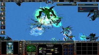 Warcraft 3 | X HERO SIEGE | TYRANDE - DRYAD | ENDING | KILLING THE FINAL BOSS - BANEHOLLOW