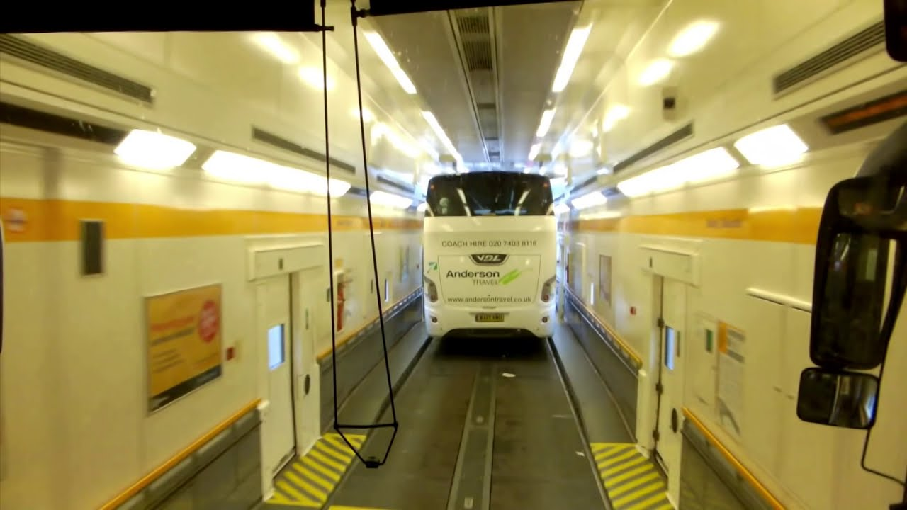 euro tunnel travel youtube. Black Bedroom Furniture Sets. Home Design Ideas
