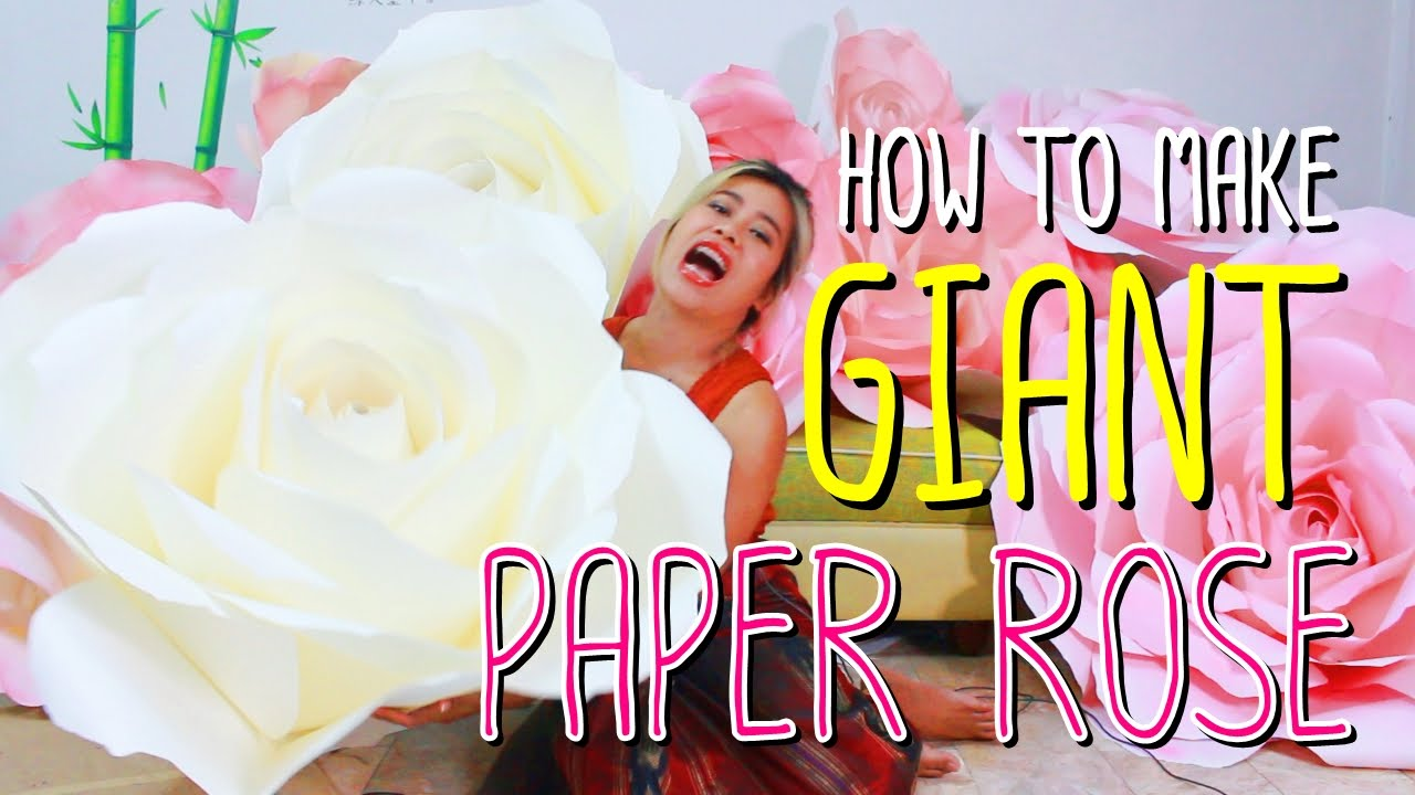 How to Make Giant Paper Roses How to Make Giant Paper Rose