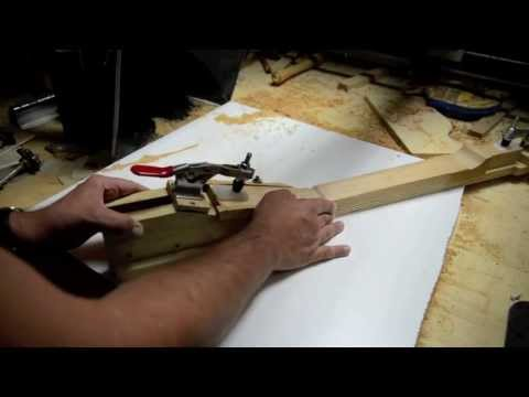 Building a Les Paul LP Guitar Neck for a 59 Paulie Luthier Jigs Templates