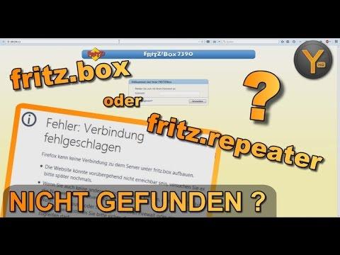 http://fritz.box oder http://fritz.repeater NICHT ERREICHBAR? Die Lösung!