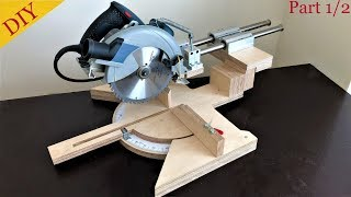 Homemade Miter Saw Build Part 1 // Gönye Testere Yapımı 1. Bölüm