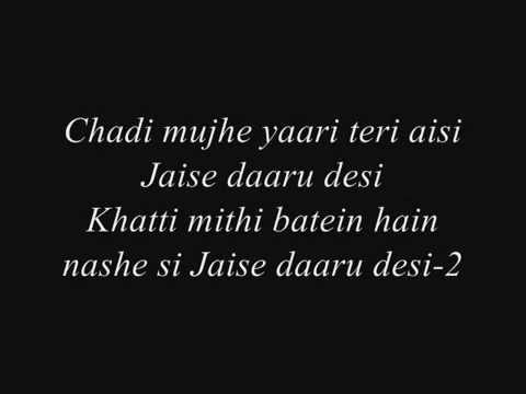 Cocktail Daaru Desi Lyrics