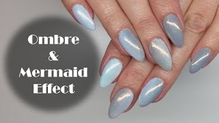 Shades Of Grey Ombre Nails Amp Mermaid Effect Tutorial  Efekt Syrenki