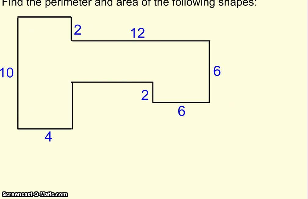 Area of irregular figures worksheets 5th grade