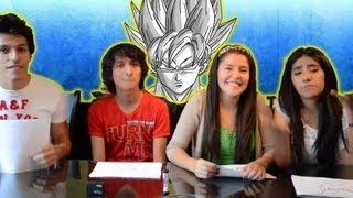 Dibujando personajes de Dragon Ball Z | Reto con Que Pario