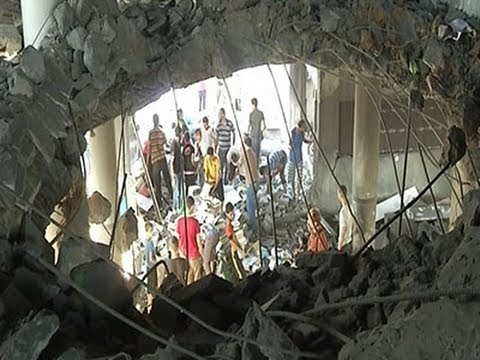 Raw: Aftermath of Airstrike in Gaza