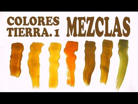 El marr n mezclas exactas colores tierra 1 2 youtube - Colores tierra para salon ...