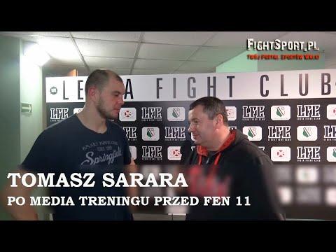 Tomasz Sarara po media treningu przed FEN 11 Warsaw Time