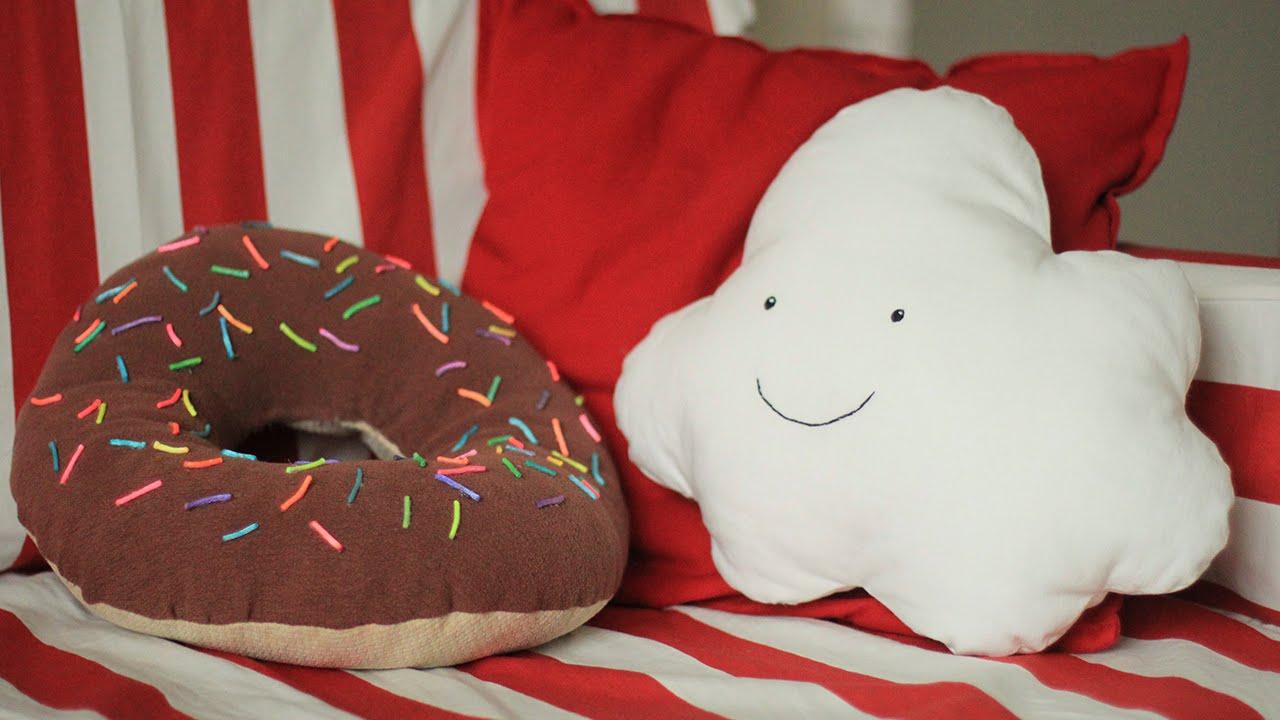 Белые подушки своими руками