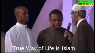 2 African people convert to Islam with Dr Zakir Naik and say Shahada