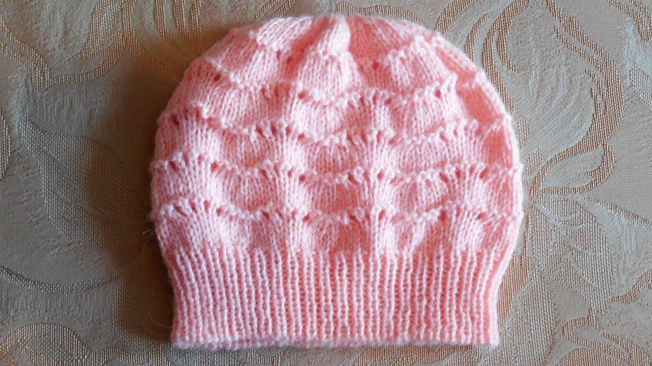 Детские шапочки образцы вязания 5