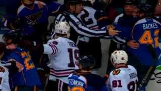 Duncan Keith`s Wakey Wakey Backes reaction to the Brent Seabrook Hit