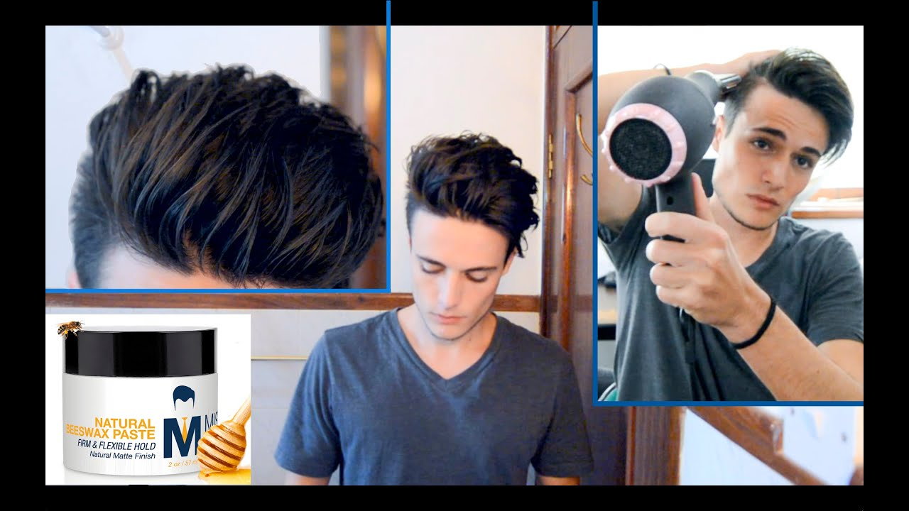 Messy Pompadour Mens Hair Tutorial Amp Hairstyle YouTube
