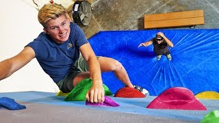 BLIND Hide and Seek on a Rock Climbing Wall!