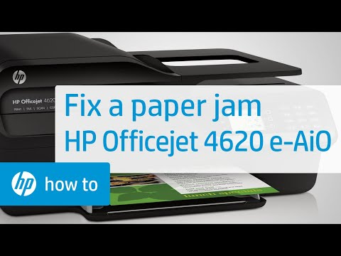 Fixing a Paper Jam - HP Officejet 4620 e-All-in-One Printer