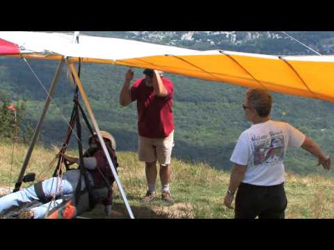 Hang gliding off Mount Greylock