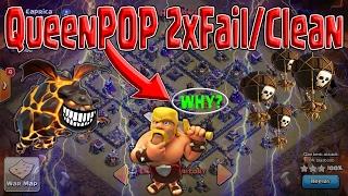 Queen POP How To 3 STAR TH9 Air Attacks! Fail/CLEAN Clash of Clans WAR