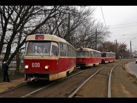 23 ноября.Харьков. Сход с рельс Tatra T3SU СМЕ №600+660