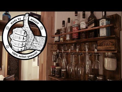 11:31 Weinregal Palettenregal Selber Bauen Wine Rack Palettenmöbel DIY  Europalette