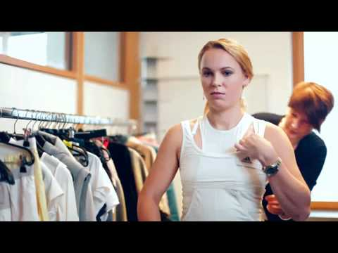 Caroline Wozniacki behind the scenes - adidas by Stella McCartney new collection