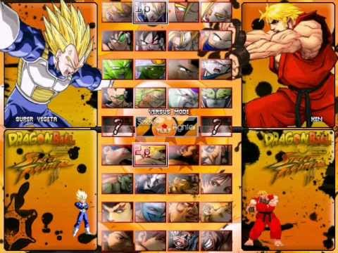 Dragon Ball vs Street Fighter III MUGEN (Hi-Res) by Dbzsupakid - UPDATED