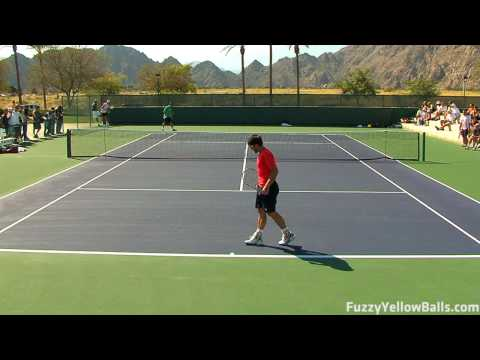 Janko Tipsarevic hitting in High Definition Video
