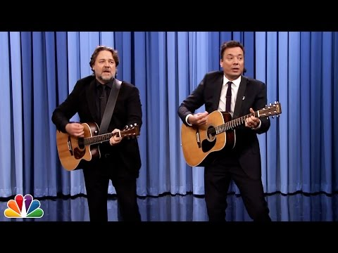 Jimmy Fallon and Russell Crowe Sing Balls in Your Mouth