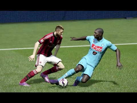 FIFA 15 Gameplay (PS4): AC Milan vs Napoli (Serie A)