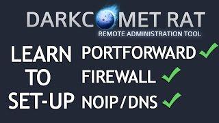 DarkComet RAT 5.3.1 Tutorial [Portforwarding + Firewall + DNS] 2016
