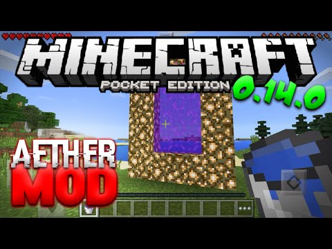 AETHER DIMENSION in Minecraft PE 0.14.0 - Aether Mod for MCPE (Pocket Edition)