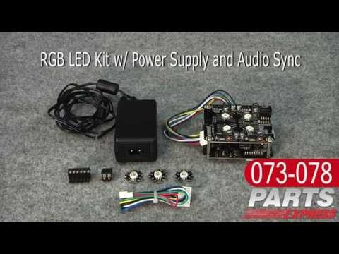 RGB Led Kit W/ Power Supply and Audio Sync