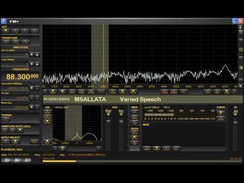 FM DX sporadic E in Holland: Libya Radio Msallata from Msallata 88.3 MHz 10-7-16