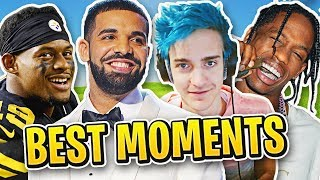 NINJA PLAYS FORTNITE w/ DRAKE, TRAVIS SCOTT & JUJU - BEST LIVESTREAM MOMENTS