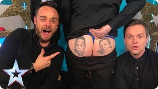 Who has Ant & Dec's faces tattooed on their bum? | Britain's Got More Talent 2017