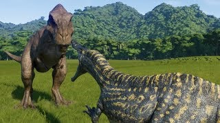 Suchomimus VS T-Rex - Jurassic World Evolution