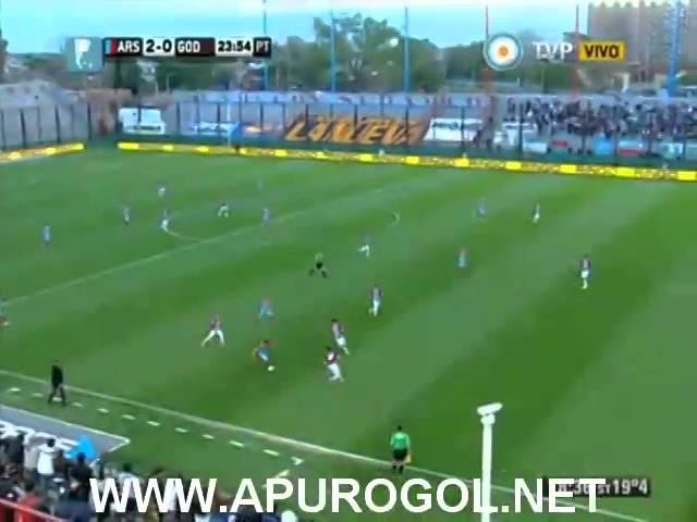 Arsenal vs Godoy Cruz (3-0) Primera División 2014 Fecha 9