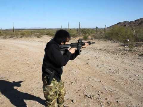 Masa san shoot full auto 9mm custom AR.